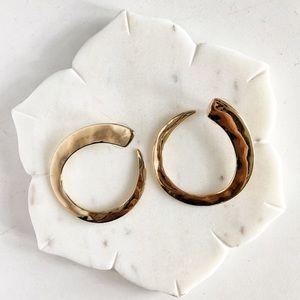 Robert Lee Morris Soho Gold-Tone Hoop Earrings